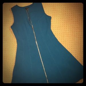 Ann Taylor Beautiful Turquoise zipper dress size 4